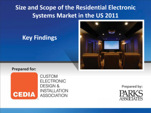 Cover of CEDIA Market Research Report