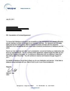 Velodyne Rep Termination Letter