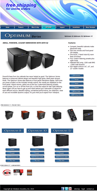 Velodyne Website Product Page