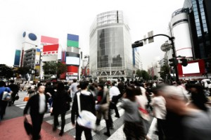 Photo of busy intersection in Japan