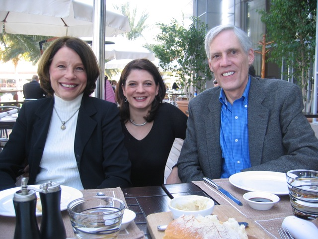 Photo of Kathy Gornik, Dawn Cloyd, and Jim Thiel in Dubai