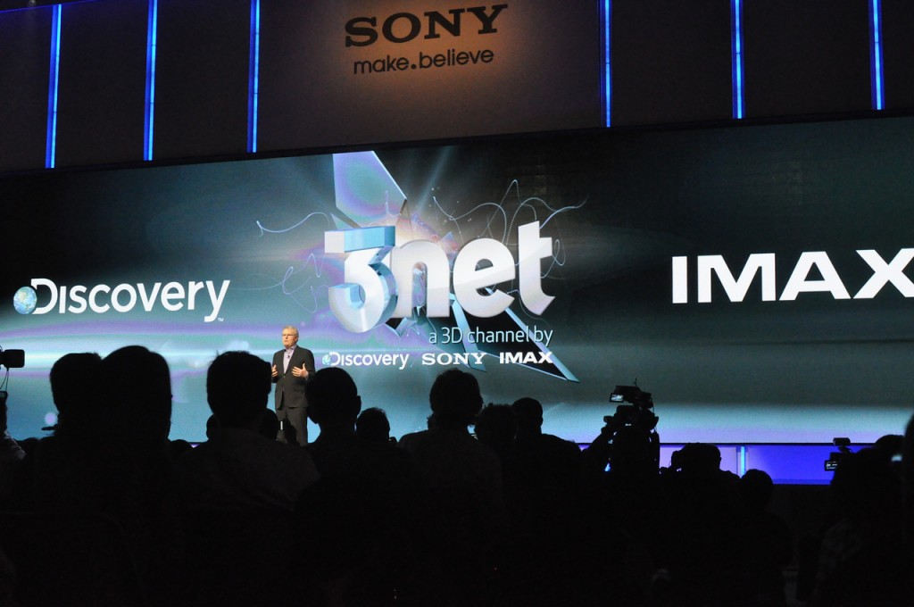 Photo from 2012 CES Sony press presentaion on 3net