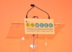 2013 CE Week logo & podium