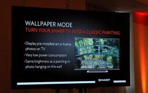 Slide showing Wallpaper Mode