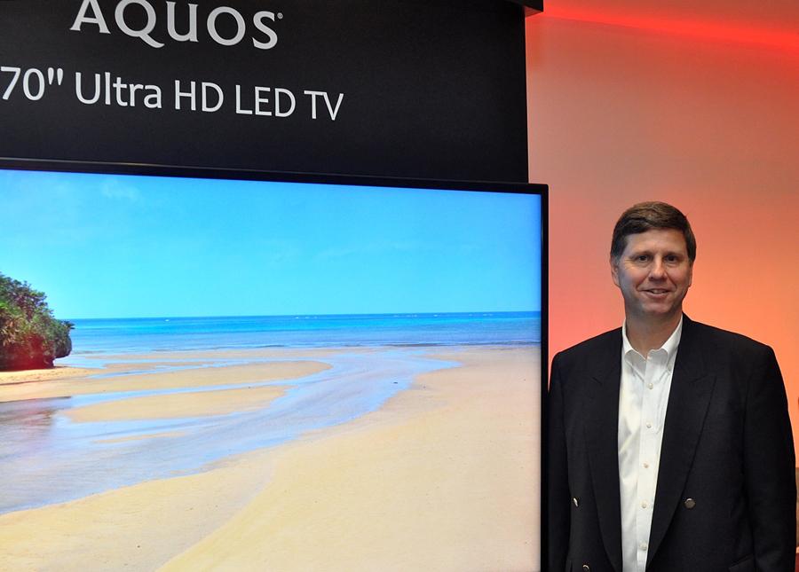 Photo of Jim Sanduski & Sharp 4K Ultra HD LED TV
