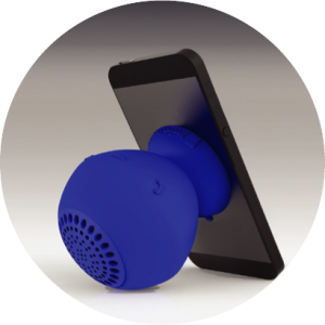 Photo of Sound pOp used as a speaker phone