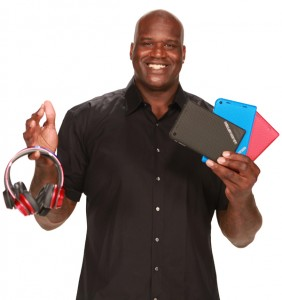 Photo of Shaquille O'Neal with Monster Products