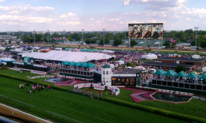 Rendering of Churchill Downs Display