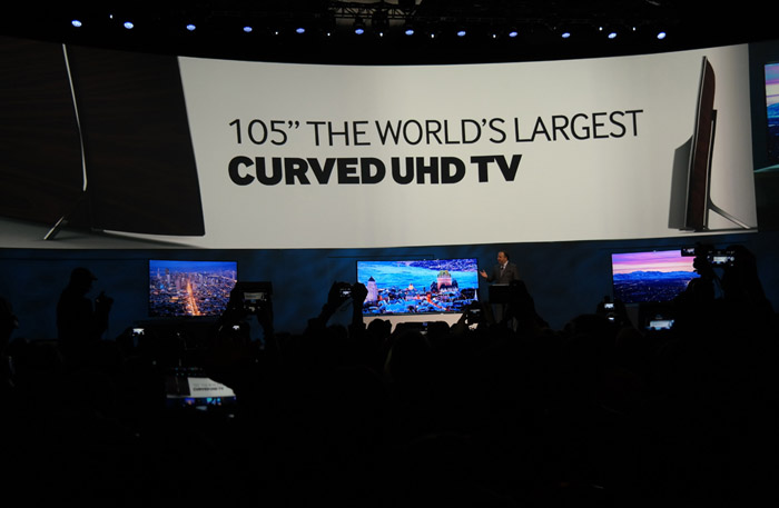 Photo of Samsung's curved TV launch