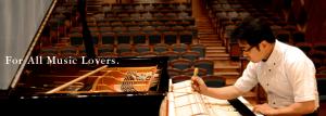 Photo of Yamaha piano being tuned