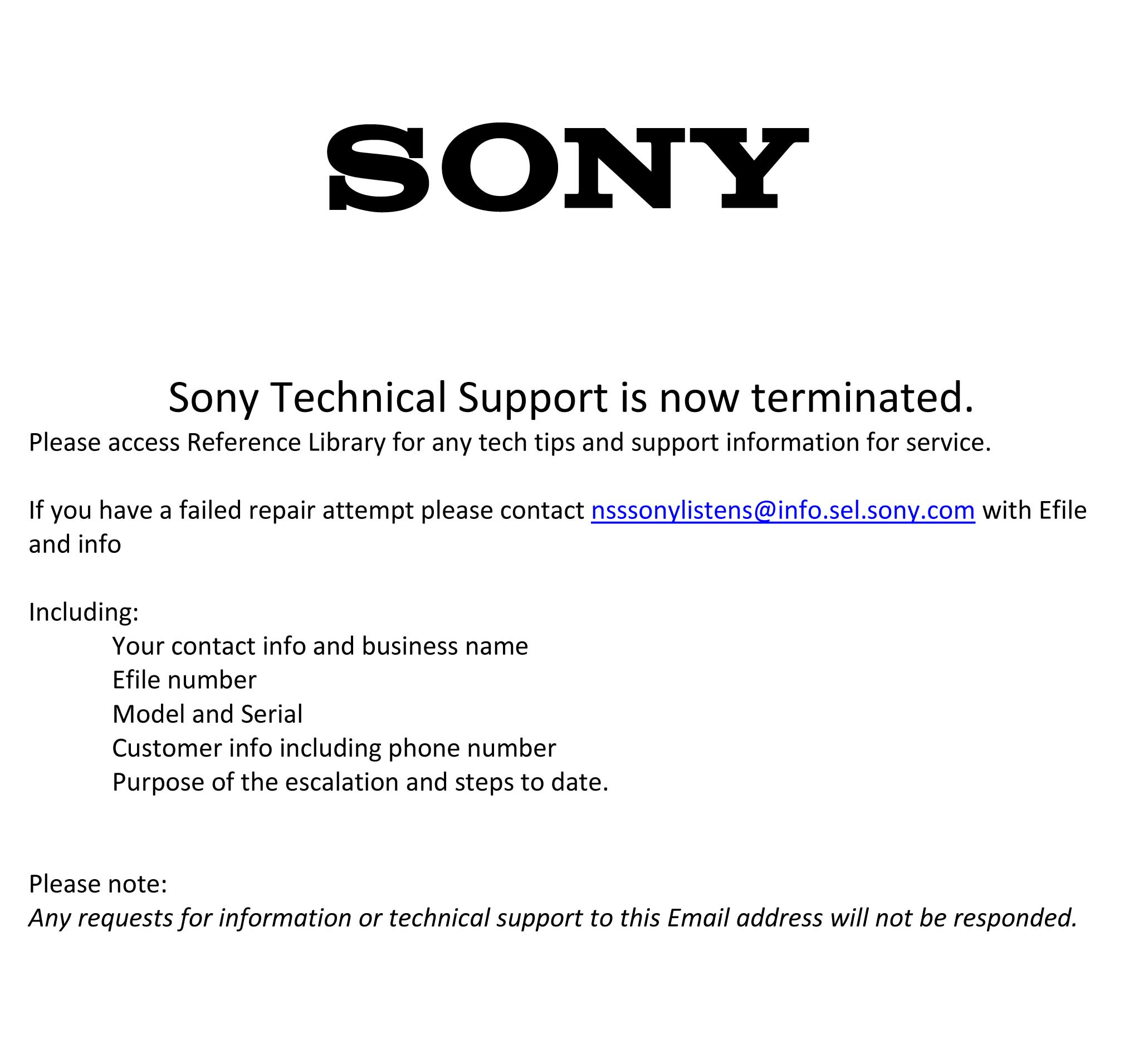 UPDATE: Sony Corporate Responds to Strata-gee's EXCLUSIVE