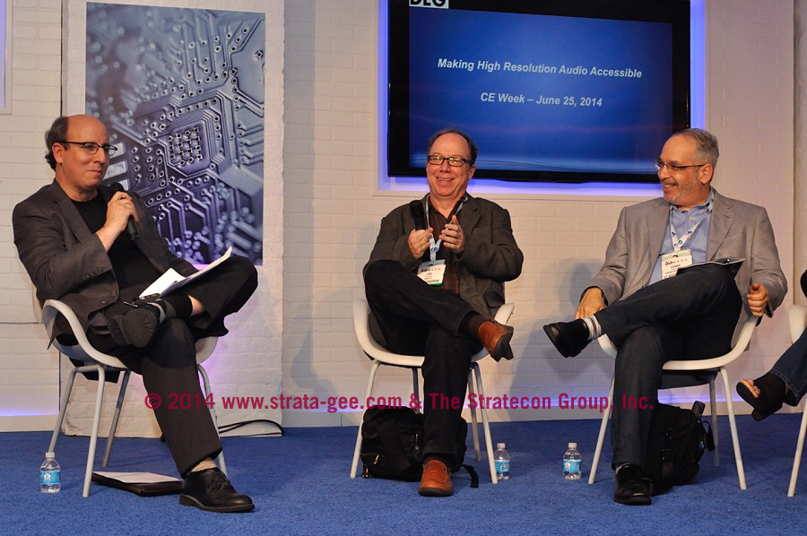 Photo of high resolution audio panel at CE Week 2014