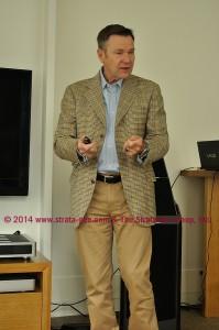 Photo of John Banks making his case
