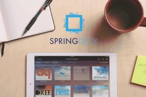SpringDeck iPad & logo