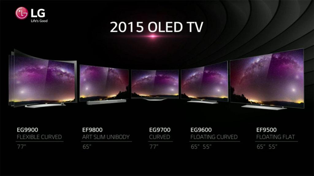LG's 2015 OLED lineup