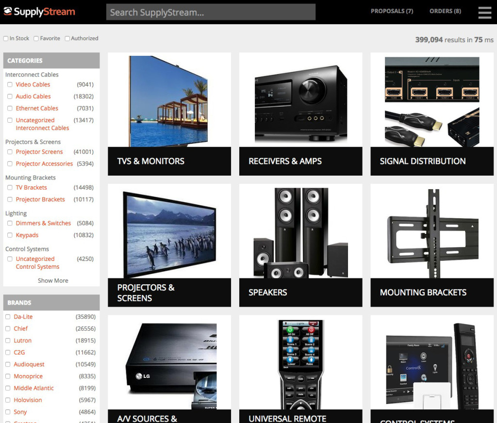 Photo of SupplyStream catalog page