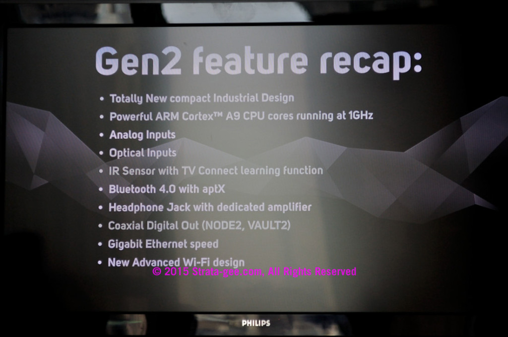 Slide showing Gen 2 upgrades