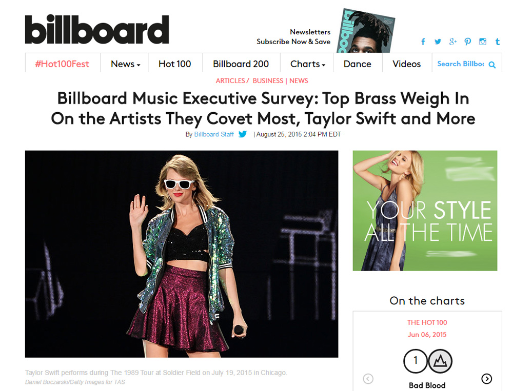 Billboard website