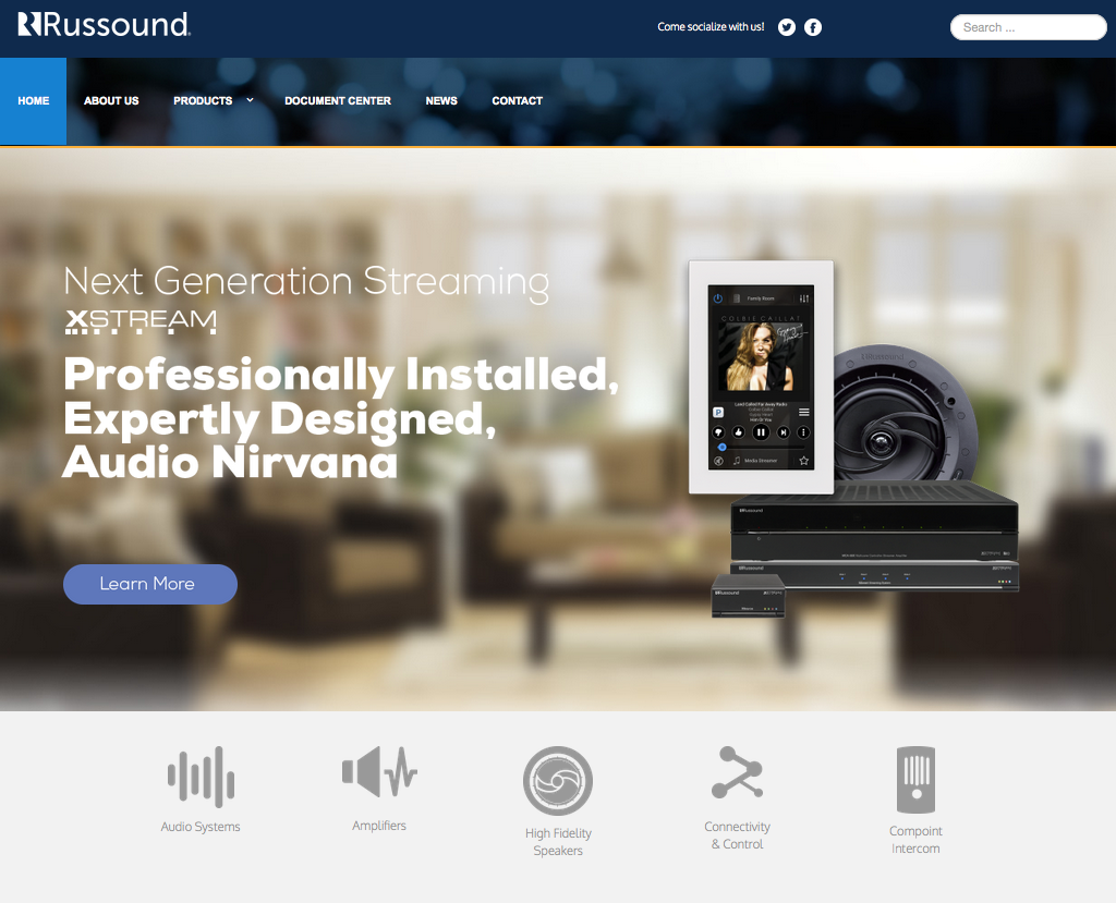 Russound's website