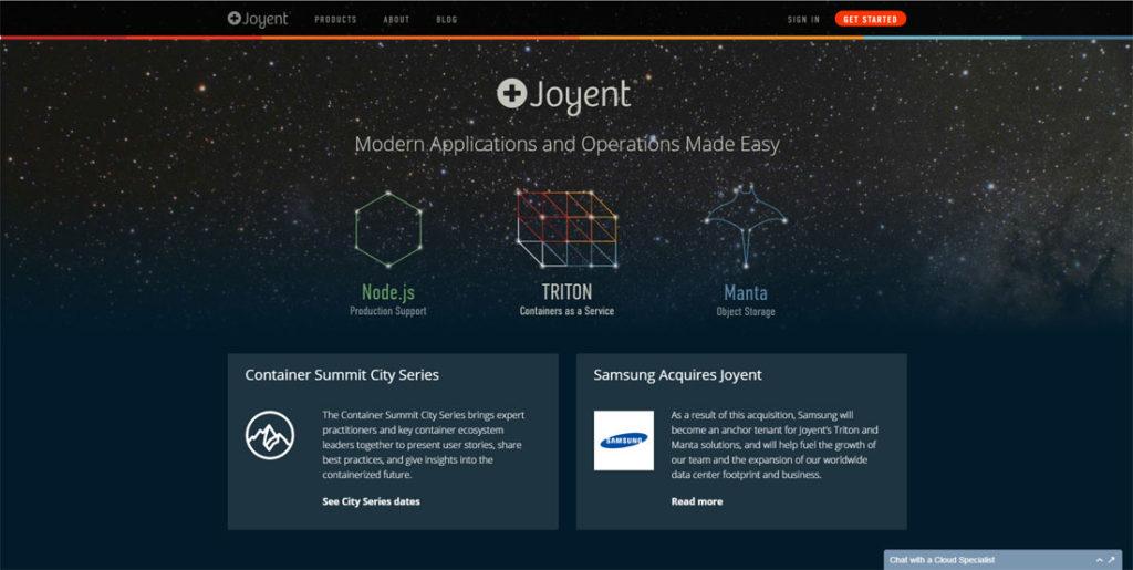 Joyent website