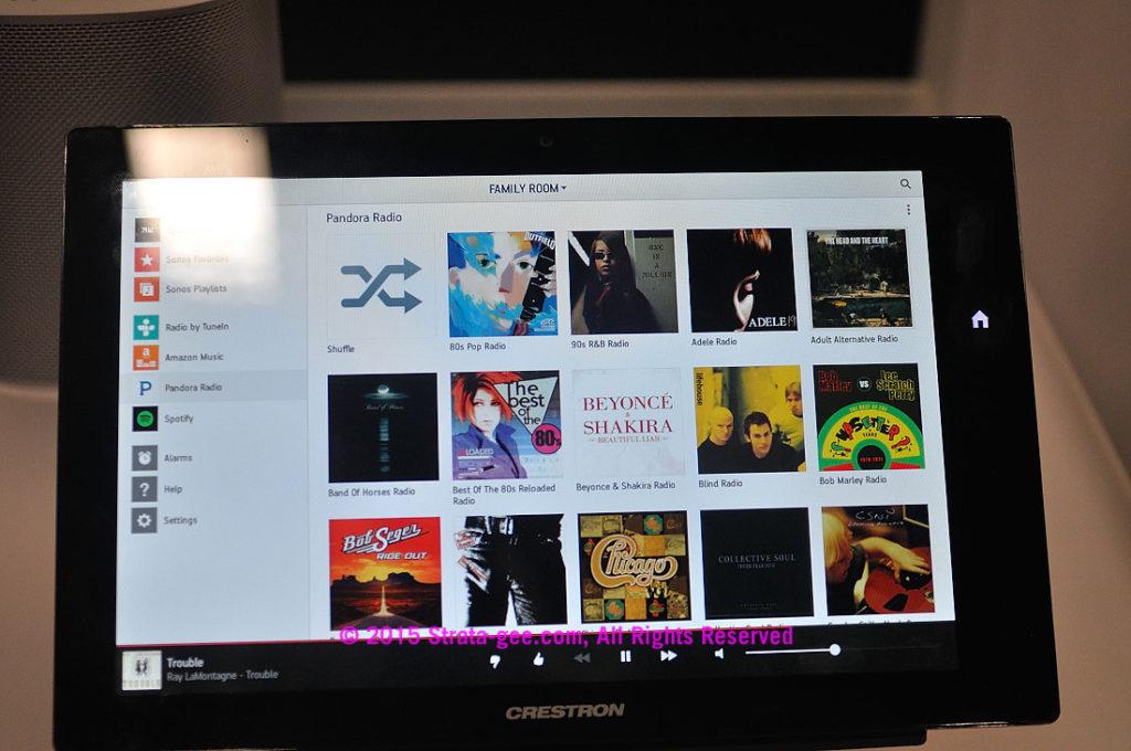 Sonos app on Crestron panel