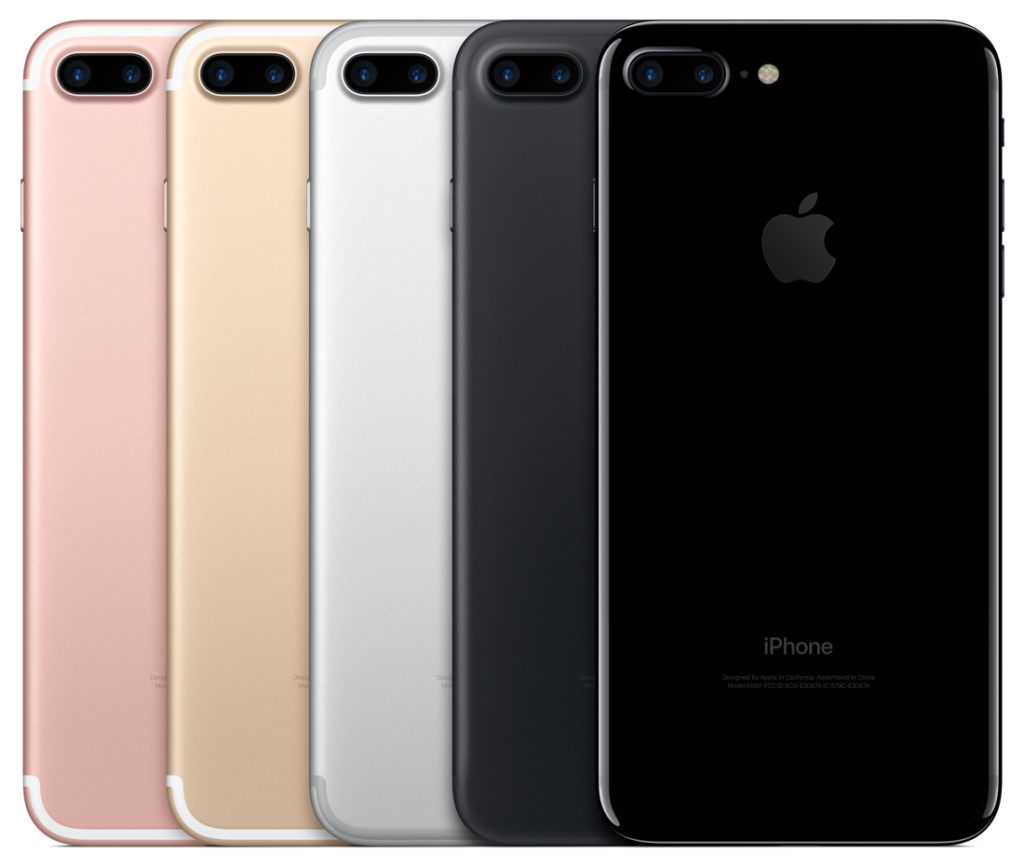 iPhone 7 finishes