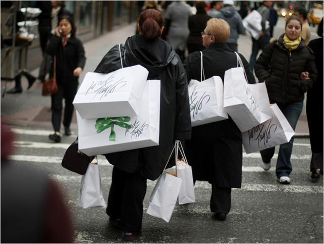 Photo of shoppers