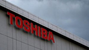 Logo on Toshiba building