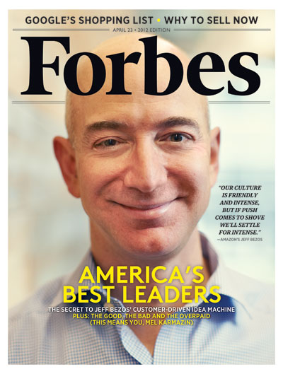 Forbes Cover with Jeff Bezos