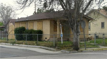 Boarded up home in California's Inland Empire