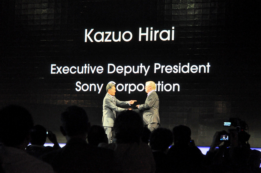 Sony's Stringer and Harai at CES 2012