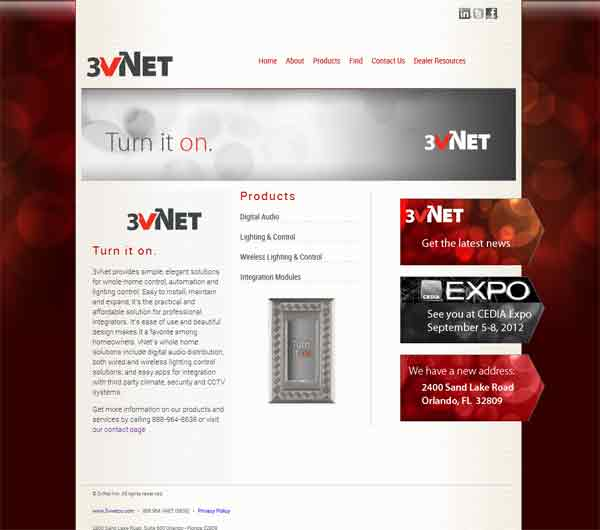 Image of 3vNet Website
