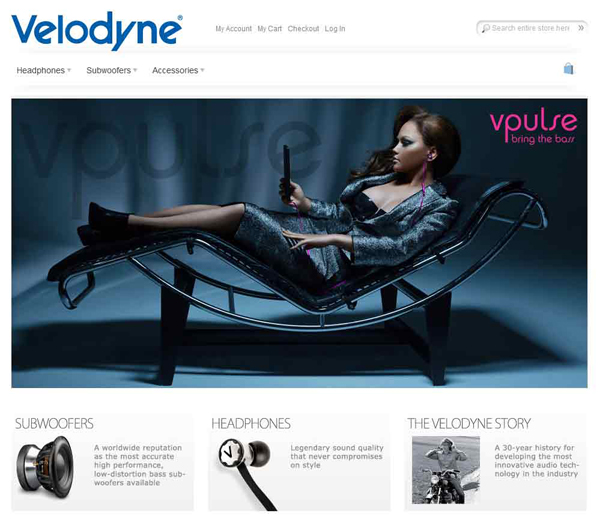 Graphic of Velodyne's Current Website