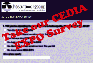 Graphic of our 2012 CEDIA EXPO Survey