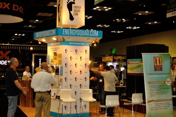 Phot of the Energy Squad Booth at CEDIA Expo