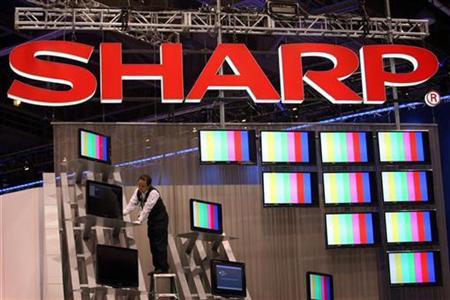 Photo of Sharp booth at CES
