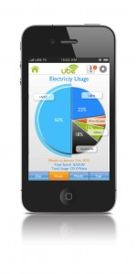 Graphic of App showing electrical usage