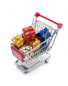 Photo of Gifts in Shopping Cart