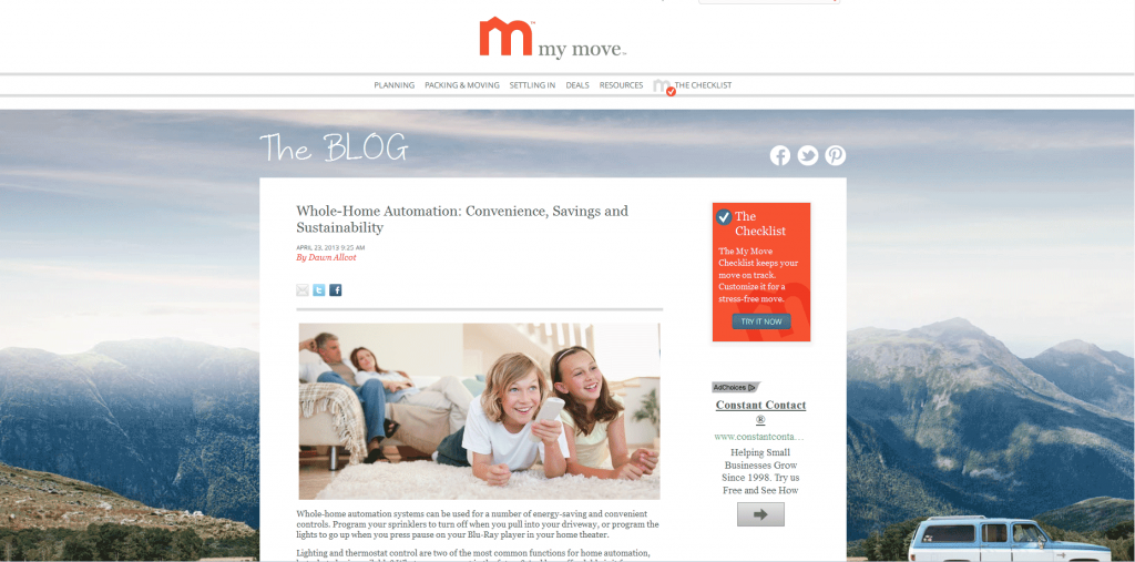 MyMove.com post on home automation