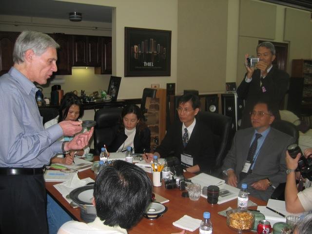 Photo of Jim Thiel training