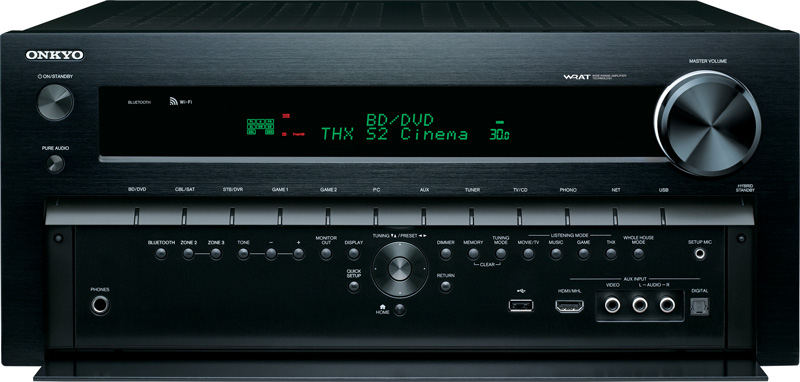 Photo of the front of the Onkyo TX-NR929