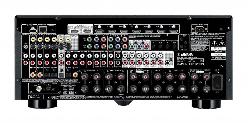 Photo of Yamaha RX-A3030 Rear Panel