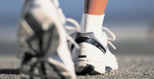 Photo close-up of walking shoes