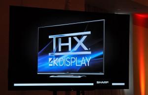 Photo of TV showing THX 4K display certification
