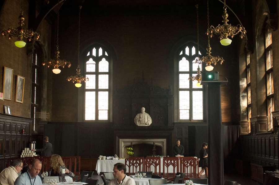 Photo of back of Refectory hall.