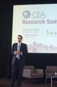 Photo of Shawn DuBravac, CEA Chief Economist, opening session.