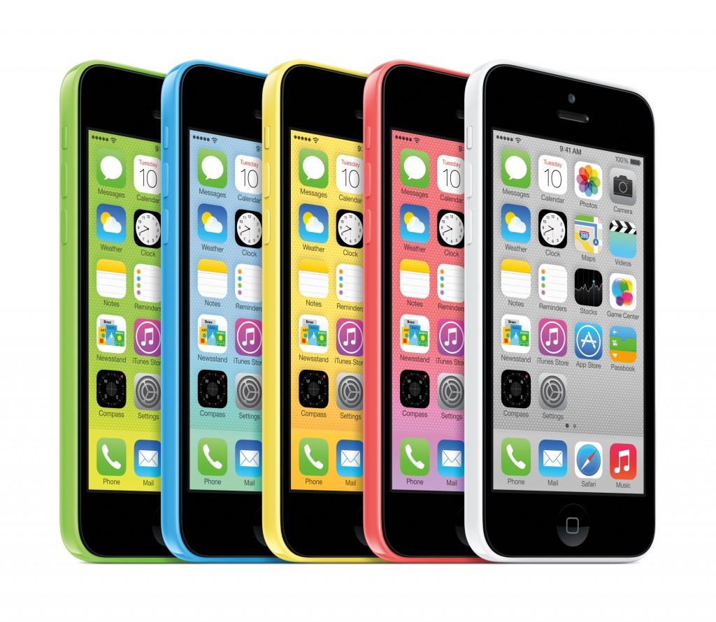 Apple 5C color options