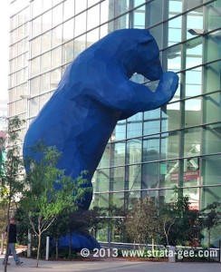 Photo of Blue Bear in front of Colorado Convention Center