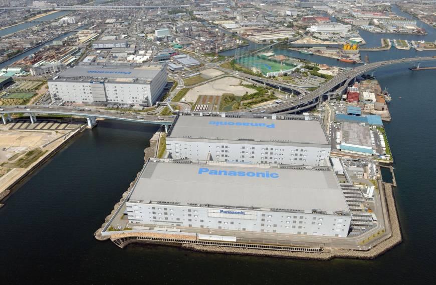 Arial photo of Panasonic Amagasaki factory