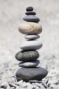 Photo of balanced rocks
